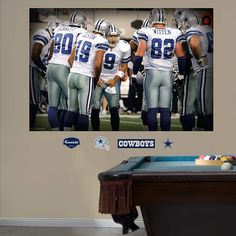 Fathead Dallas Cowboys Huddle In Your Face Mural - Wall Sticker Outlet