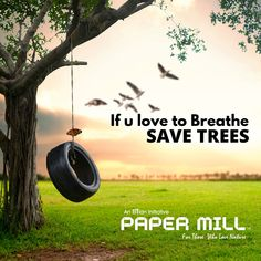 Trees gives us Oxygen to breathe and to live a healthy life in a healthy environment. Trees provide us a disease free environment. Althrough trees are taking nothing in return but still human beings don't think about it, thus we establish a product called PAPERMILL from the house of Necun Innovations to protect trees indirectly.