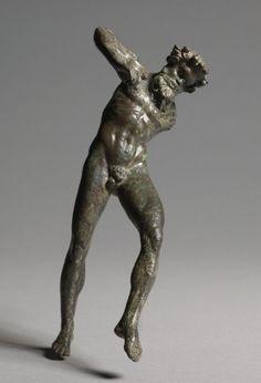 Piping & Dancing Satyr, 300-100 BC Greece, Alexandria, 3rd-2nd BC