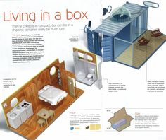 """Nice write up about """"living in a box"""" ... I love this idea. tiny home. :) -  -  To connect with us, and our community of people from Australia and around the world, learning how to live large in small places, visit us at www.Facebook.com/TinyHousesAustralia"""