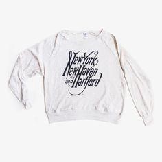 New York, New Haven, Hartford Pullover $45.00 at hartfordprints.com. #connecticut #handmade #gifts #holiday