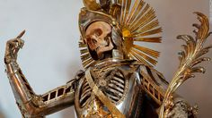 St. Pancratius in Wil, Switzerland was dressed as a Roman soldier in 1672. Artisans added the armor suit in the 18th century