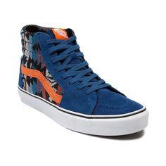 Vans SK8 Hi Skate Shoe in Suede Blue Inca at Journeys Shoes. Vans Sk8 e501bbea93d