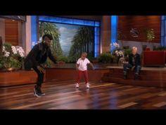 Adorable Kid Dancer Meets His Hero