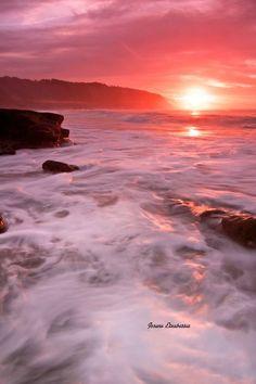 Sunset/ocean coast