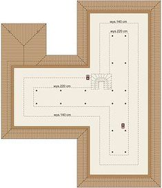 Otto 2 PS - Rzut poddasza House Outside Design, House Plans, Floor Plans, Diagram, Map, How To Plan, Villas, Floor Layout, Projects