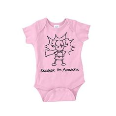 Awesome Girl Onesie Pink