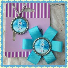 Olaf hair clip and matching necklace by Cre8iveCraft on Etsy, $6.00