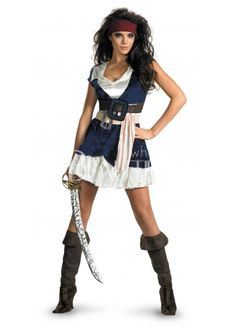 $131.99 #Pirates Of The Caribbean - Jack Sparrow Sassy Adult #Costume