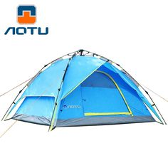140.03$  Watch now - http://alit66.worldwells.pw/go.php?t=32784017931 - Large outdoor recreation camping tent 3-4 person tourist party awning automatic tent camp china barraca de acampamento tente 140.03$