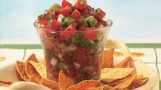 Fresh vegetables combined with citrus juice and jalapeño chile give this salsa a wonderfully refreshing flavor.