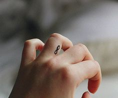 Infinity tattoo on wedding finger. AWESOME!