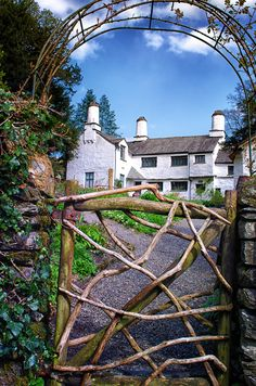 Love the gate! Garden Gates And Fencing, Garden Doors, England Countryside, Grand Entrance, Cumbria, Lake District, British Isles, Historic Homes, Great Britain