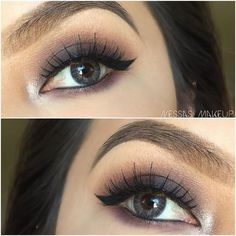 @nessas_makeup gets smokey with lash #15 from #TheCremeShop. #Makeup
