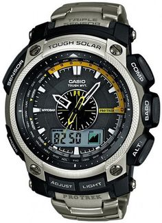 Mens #Casio #ProTrek #WaveCeptor #Titanium #Chronograph #Watch // PRW-5000T-7 // #FreeShipping within #Australia