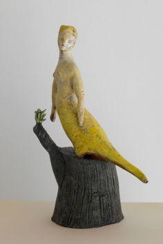 bonnie marie smith - earthenware clay + glaze + paint - siren ...