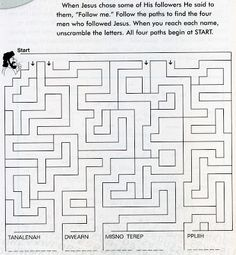 Kids-Web-Pages: Sunday School: Jesus Followers