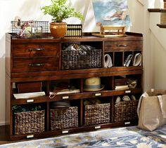 Olivia 2-Piece Bench Smart Technology™ Organizer System (1 Bench + 1 Smart Technology™ Organizer), Tuscan Chestnut stain