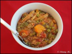 Texas Style Turkey Stew w/ celery, onion, garlic, and peas! The robust flavor & the variety of veggies make this the perfect recipe when the snow hits