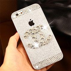 Chanel シャネル iPhone6 スマホカバー iPhone6 Plus/5s/5 ドリル付き キラキラ スマホケース http://iphonecase.ne.jp/p-iphone6_case-b-chanel-377.html
