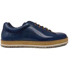 8518 Zapato deportivo en piel azul difuminada de Zampiere | Calzados Garrido