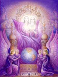 """The Elohim have a male and female aspect as the creator gods and goddesses of the highest evolution of the Devic Kingdom.  The term """"elohim"""" means """"all that god is"""" and they were referred to in the Old Testament over two thousand five hundred times as the """"name of God"""".  The Keys of Enoch refers to the Elohim as those beings who created the world by the will of YHWH (the Jewish name for the Godhead).  The Elohim and the Archangels might be thought of as the left and right hands of god…"""