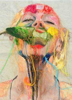 49 Ideas Sewing Art Gcse Mixed Media For 2019 Art Textile, Textile Artists, Thread Art, A Level Art, A Level Textiles, Sewing Art, Gcse Art, Photomontage, Art Sketchbook