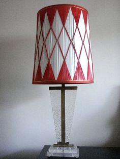 Vintage Argyle Lamp Shade