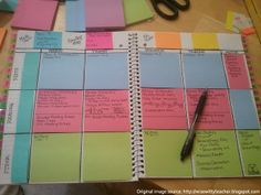 Post-it Note Day planner
