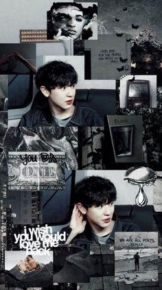 New Wallpaper Kpop Aesthetic Exo Ideas Kpop Exo, Exo Chanyeol, L Wallpaper, Tumblr Wallpaper, Trendy Wallpaper, Taemin, Shinee, Wallpapers Kpop, Laughing Funny