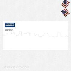 real estate envelopes, realtor envelopes, realtor window envelopes, envelopes, Coldwell Banker envelopes