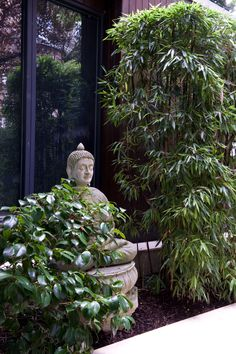 Using a statue focal point can set the whole tone of a garden #buddha #statues #garden #london #londongardendesign