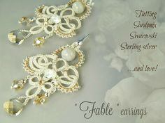 Fable ...simply needle tatting earrings tutorial