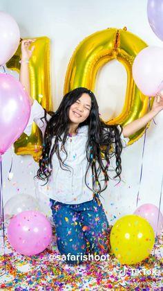 10th Birthday Parties, 16th Birthday, Diy Birthday, Birthday Balloon Decorations, Birthday Balloons, Photoshoot Themes, Birthday Photoshoot Ideas, Photo Ballon, Cute Birthday Pictures