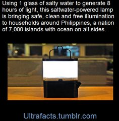 Ultrafacts.tumblr.com, Aiming to bring low-cost illumination to residents...