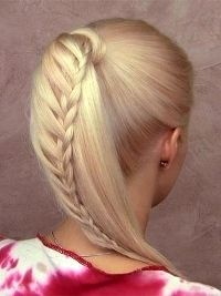 Braided lace like ponytail and updo