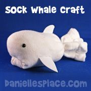 Sock Whale Craft for Kids from www.daniellesplace.com
