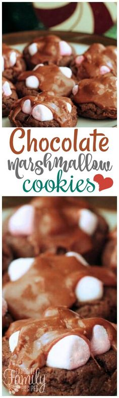 These Chocolate Marshmallow Cookies are so easy to make and perfect to take to Christmas potlucks. The fudge chocolate topping is amazing! via @favfamilyrecipz