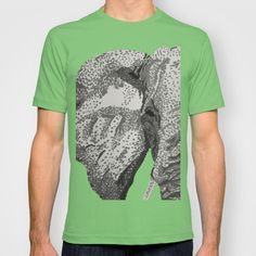 Elephant  T-shirt by tyler Guill - $18.00