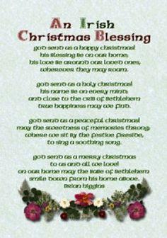 irish christmas | Irish Christmas Blessings, Greetings and Poems