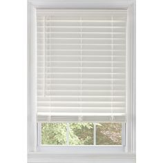 Shop Levolor  2.5-in Faux Wood Room Darkening Cordless Plantation Blinds at…