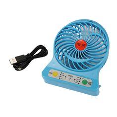 Home Appliance USB Mini Fan Portable Electric Fans LED Portable Rechargeable Desktop Fan Cooling air conditioner portable fan #Affiliate