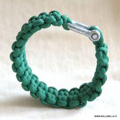 Baby croco? It definitely has a tight grip! It's a survival paracord bracelet.   By BALLABELLA