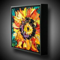 Sunflower Painting Original Oil Painting ART B. Sasik by bsasik