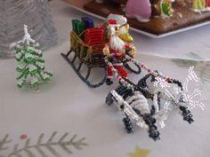 Дед Мороз,красный нос,он подарочки привёз. | biser.info - всё о бисере и бисерном творчестве
