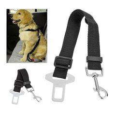 Cinturón de seguridad ajustable Pet Safety Dog Coche-Negro
