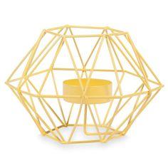 Bougeoir en métal jaune H 9 cm UPBLOWN YELLOW