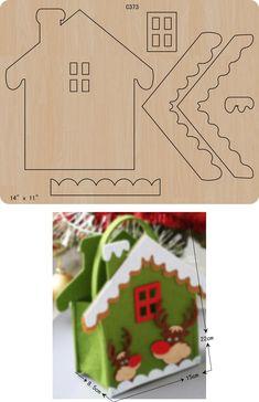 Christmas Gingerbread House, Felt Christmas Ornaments, Kids Christmas, Christmas Crafts, Felt Crafts, Diy And Crafts, Crafts For Kids, Paper Crafts, Felt Decorations