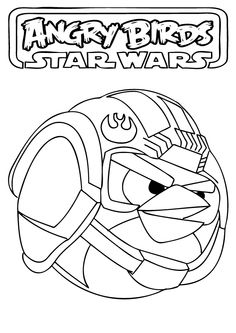 Shape Coloring Pages Angry Birds Star Wars Printable Free