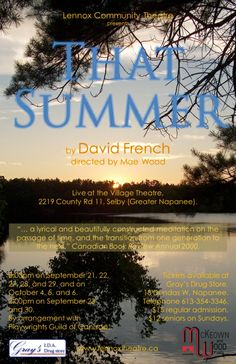 That Summer at the Selby Village Theatre. Theatre Posters, Movie Posters, Meditation, David, French, Summer, French People, French Language, France
